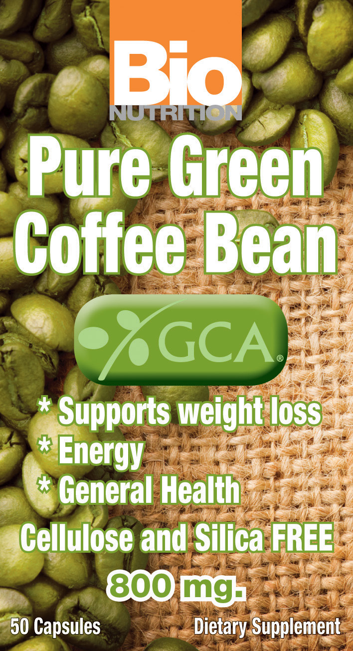 Pure Green Coffee Bean With GCA by Bio Nutrition Inc.