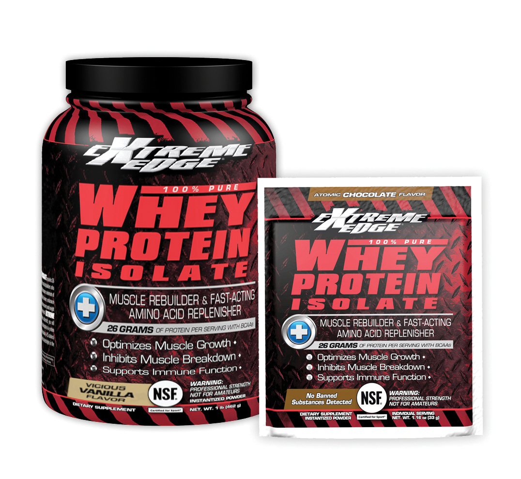 Extreme Edge 100% Pure Whey Protein Isolate by Bluebonnet