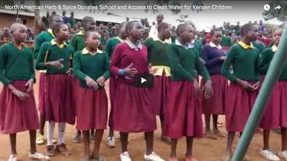 North American Herb & Spice Donates School and Access to Clean Water for Kenyan Children